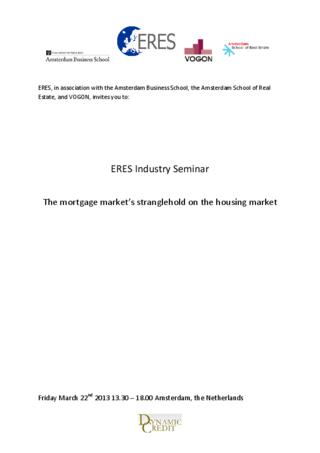 ERES Industry Seminar: The mortgage market's stranglehold on the housing market